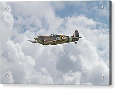 Acrylic Print featuring the digital art   Spifire - Us Eagle Squadron by Pat Speirs