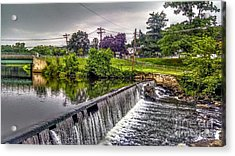 Spillway At Grace Lord Park, Boonton Nj Acrylic Print