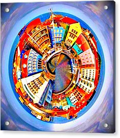 Spin City Acrylic Print by Kathy Kelly