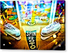 Spin Roto - Pinball Machine Acrylic Print