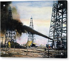 Spindletop Oil Pool, C1906 Acrylic Print