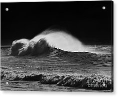 Spindrift Acrylic Print by Mike  Dawson