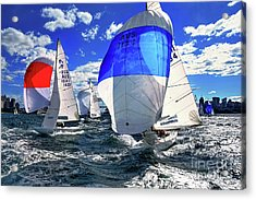 Spinnakers And Sails By Kaye Menner Acrylic Print