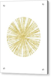 Spinning Gold Ball Art By Linda Woods Acrylic Print by Linda Woods