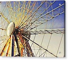 Spinning High Acrylic Print by Tom Gowanlock
