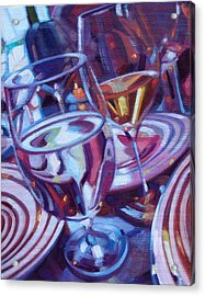 Spinning Plates Acrylic Print by Penelope Moore