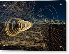 Spinning Sparks Acrylic Print