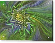 Spinning Star Acrylic Print by Linda Phelps