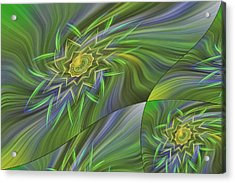 Spinning Star Tiles Acrylic Print by Linda Phelps