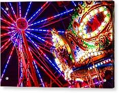 Night Lights At County Fair Acrylic Print