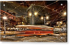 Acrylic Print featuring the photograph Spinning Trolley Car by Steve Siri