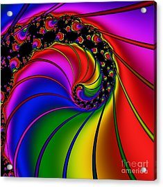 Spiral 124 Acrylic Print by Rolf Bertram