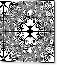 Spiral Abstract 7 Colour Choice Acrylic Print