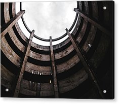 Spiral Architecture Photograph. Looking Up. Acrylic Print by Dylan Murphy