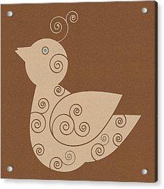 Spiral Bird Acrylic Print by Frank Tschakert