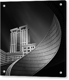 Spiral City Acrylic Print by Mohammad Rafiee