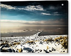 Spiral Jetty In Winter Acrylic Print