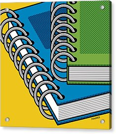 Acrylic Print featuring the photograph Spiral Notebooks by Ron Magnes