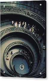 Spiral Staircase In Vatican 2 Acrylic Print by Carl Purcell