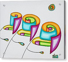 Spiral Triplets Acrylic Print by            Gillustrator