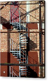 Spiral Up Or Down Acrylic Print by Jez C Self