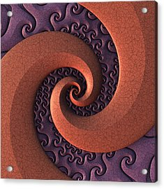 Acrylic Print featuring the digital art Spiralicious by Lyle Hatch