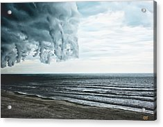 Spiraling Storm Clouds Over Daytona Beach, Florida Acrylic Print