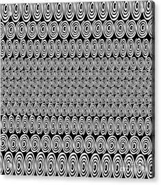 Spirals Black And White - Abstract Painting Acrylic Print by Edward Fielding