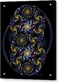Spirals Of The Night Acrylic Print