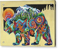 Spirit Bear Totem Acrylic Print