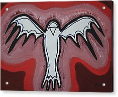 Spirit Crow Original Painting Acrylic Print