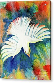 Acrylic Print featuring the painting Spirit Fire by Nancy Cupp