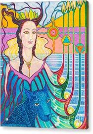Spirit Guide Selmutee Of Lemuria Acrylic Print