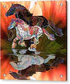 Spirit Horse II Leopard Gypsy Vanner Acrylic Print