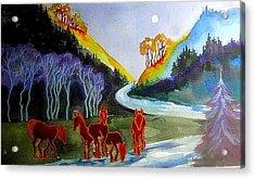 Spirit Horses Acrylic Print