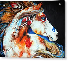Spirit Indian War Horse Acrylic Print