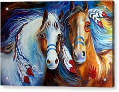 Spirit Indian War Horses Commission Acrylic Print
