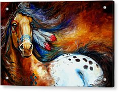 Spirit Indian Warrior Pony Acrylic Print