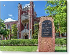 Spirit Of Learning Statue At The University Of Oklahoma  Acrylic Print