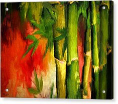 Spirit Of Summer- Bamboo Artwork Acrylic Print by Lourry Legarde