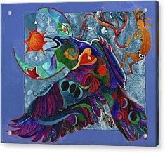 Spirit Raven Totem Acrylic Print