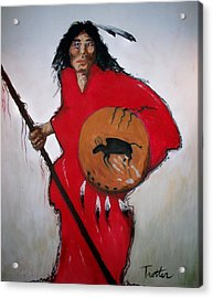 Spirit Warrior Acrylic Print by Patrick Trotter