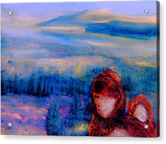 Acrylic Print featuring the painting Spirits Of The Sacred Land by FeatherStone Studio Julie A Miller