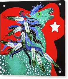 Spirits Rise Acrylic Print by Debbie Chamberlin