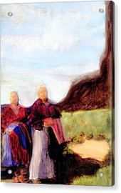 Acrylic Print featuring the painting Spirits They Are Here by FeatherStone Studio Julie A Miller