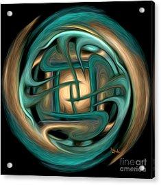 Spiritual Art - Healing Labyrinth By Rgiada Acrylic Print