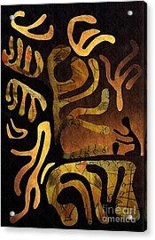 Spiritual Drummer Acrylic Print by Sarah Loft