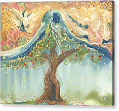 Spiritual Embrace Acrylic Print