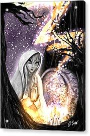 Spiritual Ghost Fantasy Art Acrylic Print