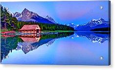 Spiritual Lake Acrylic Print by Scott Mahon